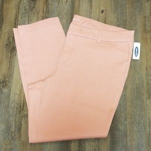 Old navy pink ankle pixie pants